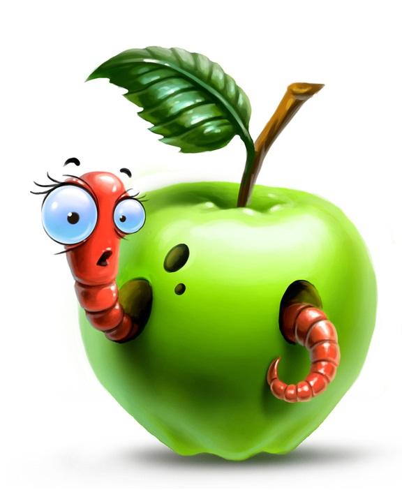 В яблочко точнее всего попадает гусеница :)